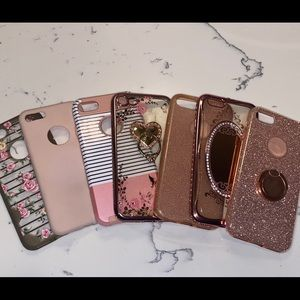 Love pink sparkle iPhone7 cases